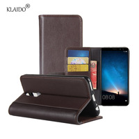 KLAIDO Genuine Leather Mobile Phone Case For Huawei Mate 10 Lite Case Leather Flip Cover Case