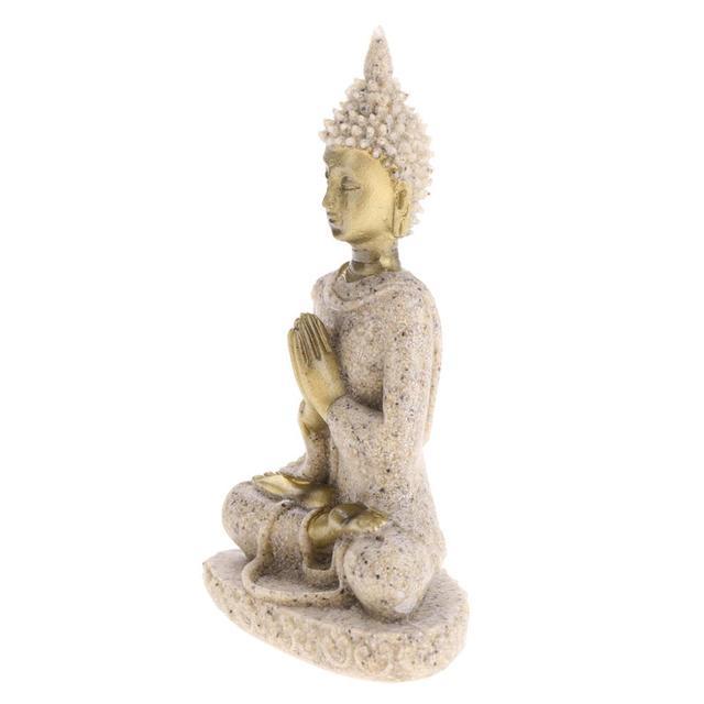 MagiDeal The Hue Sandstone Meditation Buddha Statue Sculpture Handmade Figurine Meditation Miniatures Ornament Statue Home D#3 4