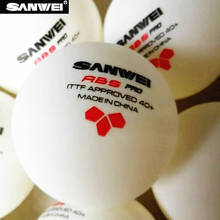 60 balls SANWEI Table Tennis Ball 3-star ABS 40+ PRO seamed New material plastic poly ITTF Approved ping pong tenis de mesa цена