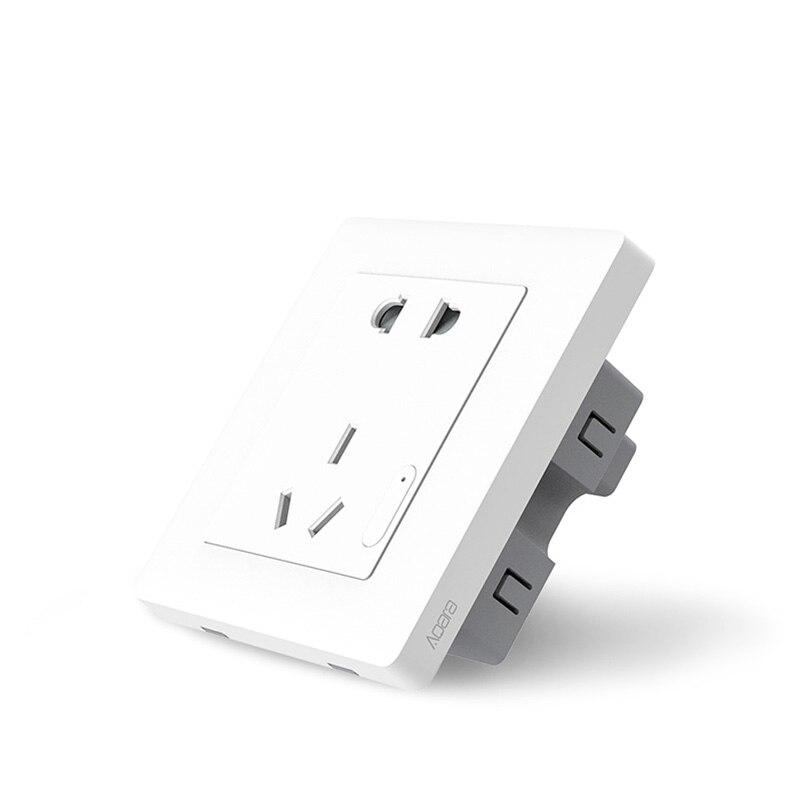 Original Xiaomi Aqara casa Inteligente Inteligente de Controle de Luz Interruptor de Parede Tomada ZiGBee Via Smartphones Xiaomi APLICATIVO Remoto Sem Fio