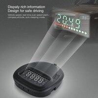 Universal Car HUD GPS Speedometer Head UP Display Digital Car Speedometer Overspeed Alarm Windshield Project For All Vehicle
