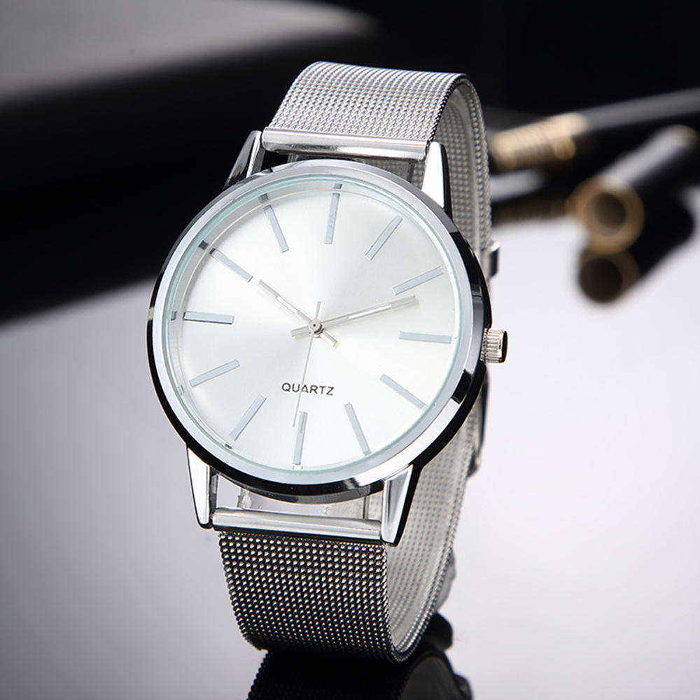 Women Silver Watches 2019 New Stylish Minimalist Quartz Clock Full Steel Watchband Hot Clock Bayan Kol Saati
