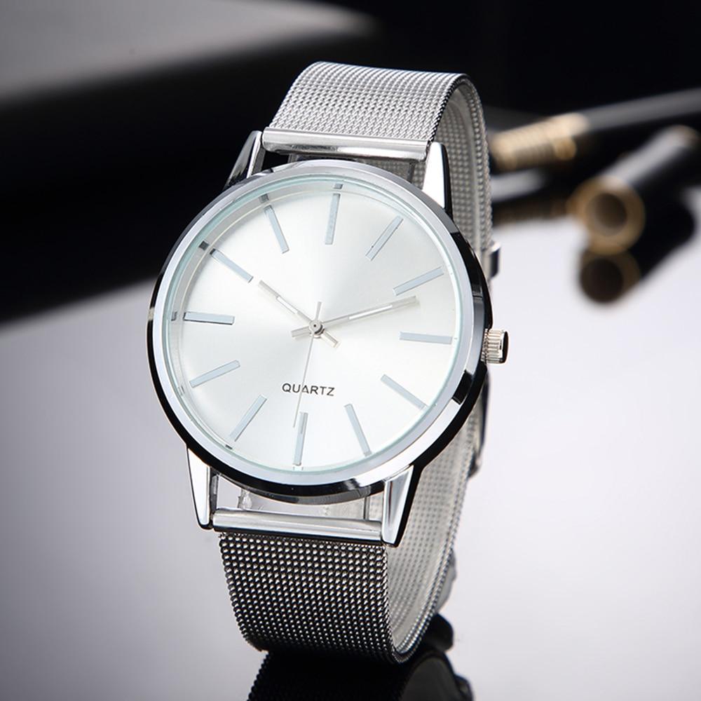 Women Silver Watches 2019 New Stylish Minimalist Quartz Clock Full Steel Watchband Hot Clock Bayan Kol Saati