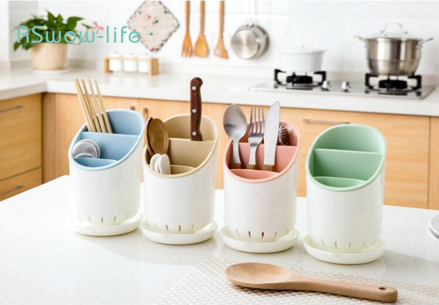 Multi function Household Kitchen Cutlery Drain Chopsticks Storage Rack Plastic Spoon Finishing Rack For Kitchen Tools in Utensil Sets from Home Garden