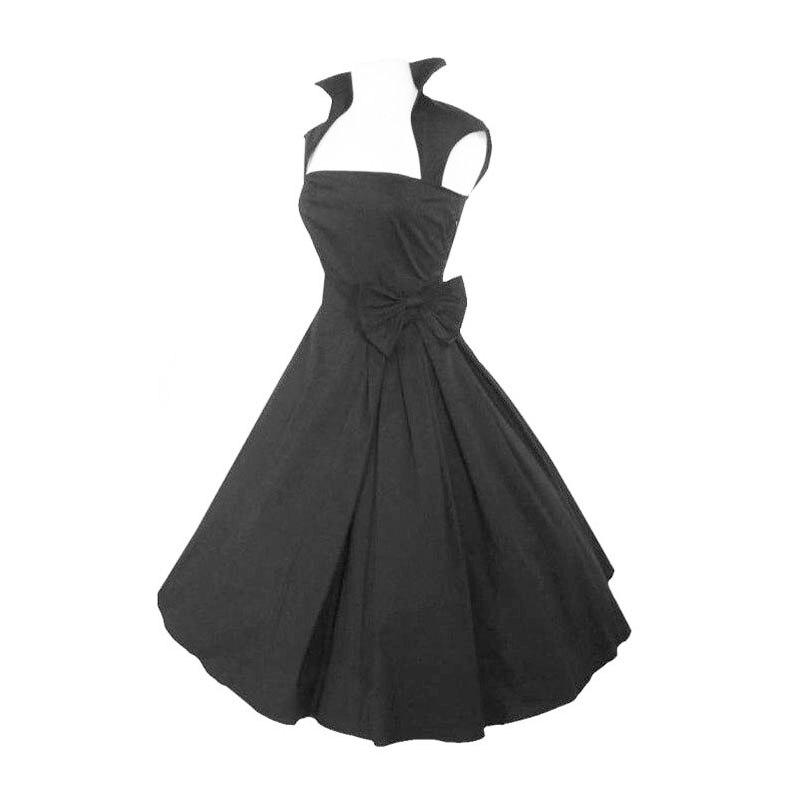 Modesto vestido de fiesta negro de la reina anna vestidos de cóctel 2017 vintage