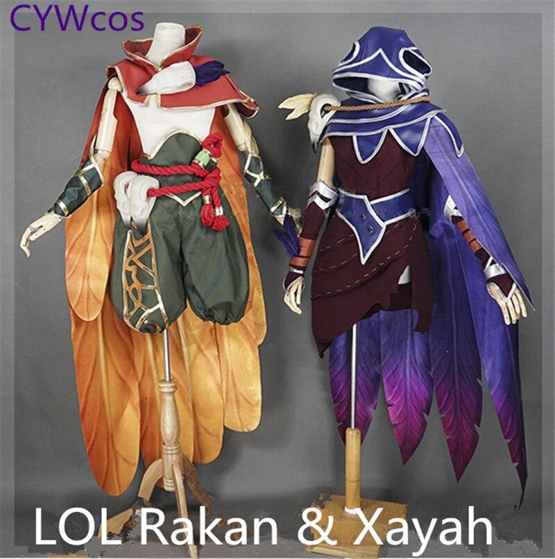 Custom Made LOL Game Cosplay Rebel Xayah Charmer Rakan Cosplay Kostym - Maskeradkläder och utklädnad