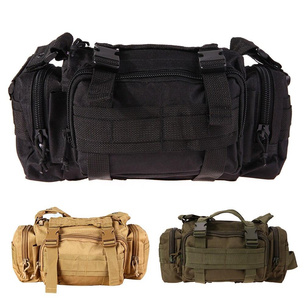 Kültéri derék táskák Milit katonai taktikai hátizsák hátizsák hegymászó táska vállpánt sport kemping utazás túra táska 3Color