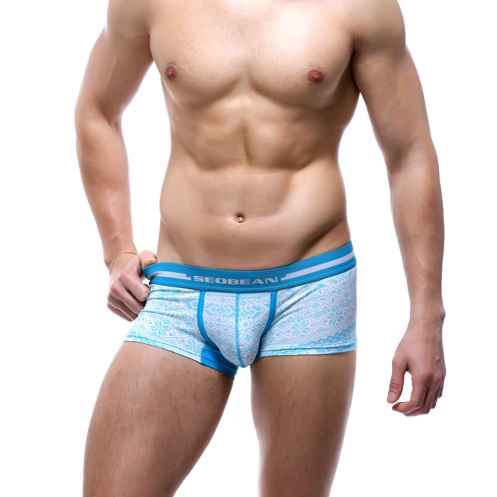 Novi SEOBEAN muški bokserice donje rublje Donji bok U-bag bokser Pamuk seksi modni bokserice 4 boje S M L XL