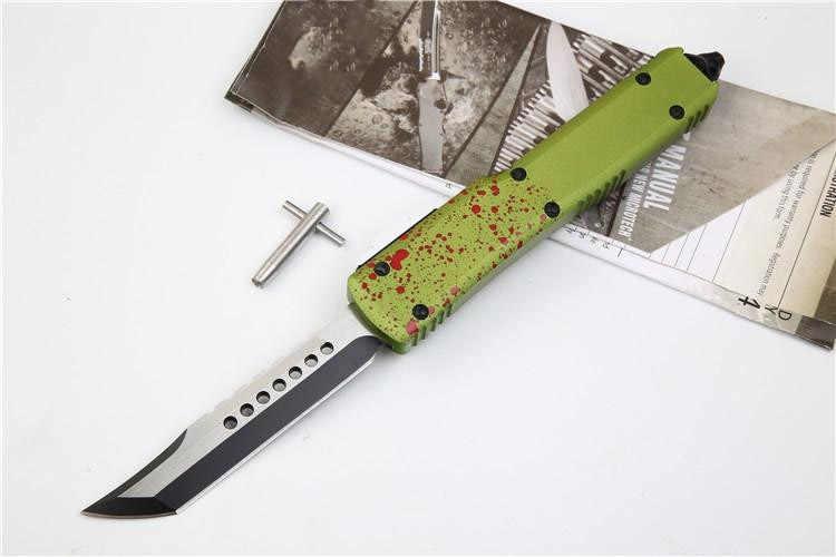 2019 OTF سكينة للاستعمال الخارجي UT D2 شفرة مقبض ألمونيوم التخييم بقاء في الهواء الطلق EDC هانت التكتيكية أداة عشاء المطبخ سكين