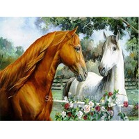 5d of the diamond embroidery horse painting 40*30cm cross stitch diamond mosaic animals picture pastes pattern needlework F040