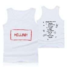 New Lil Peep Men Tank Cotton Top Undershirt Clothes Hot White Men/Women Lil Peep HELLBOY Print Tank Fitness Wrestling Clothes недорого