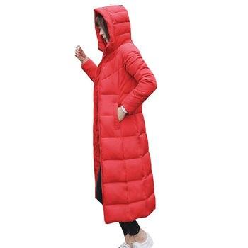 Plus Size 5XL 6XL Thicken Long Down Cotton Jacket Women Waterproof Slim Winter Jacket Women Hoodies Warm Winter Coat Parka C4957