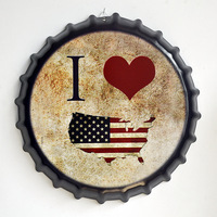 Tin Sign I love USA Vintage Metal Painting Beer Cover Cafe Bar Hanging Ornaments Wallpaper Decor Plates Retro Mural