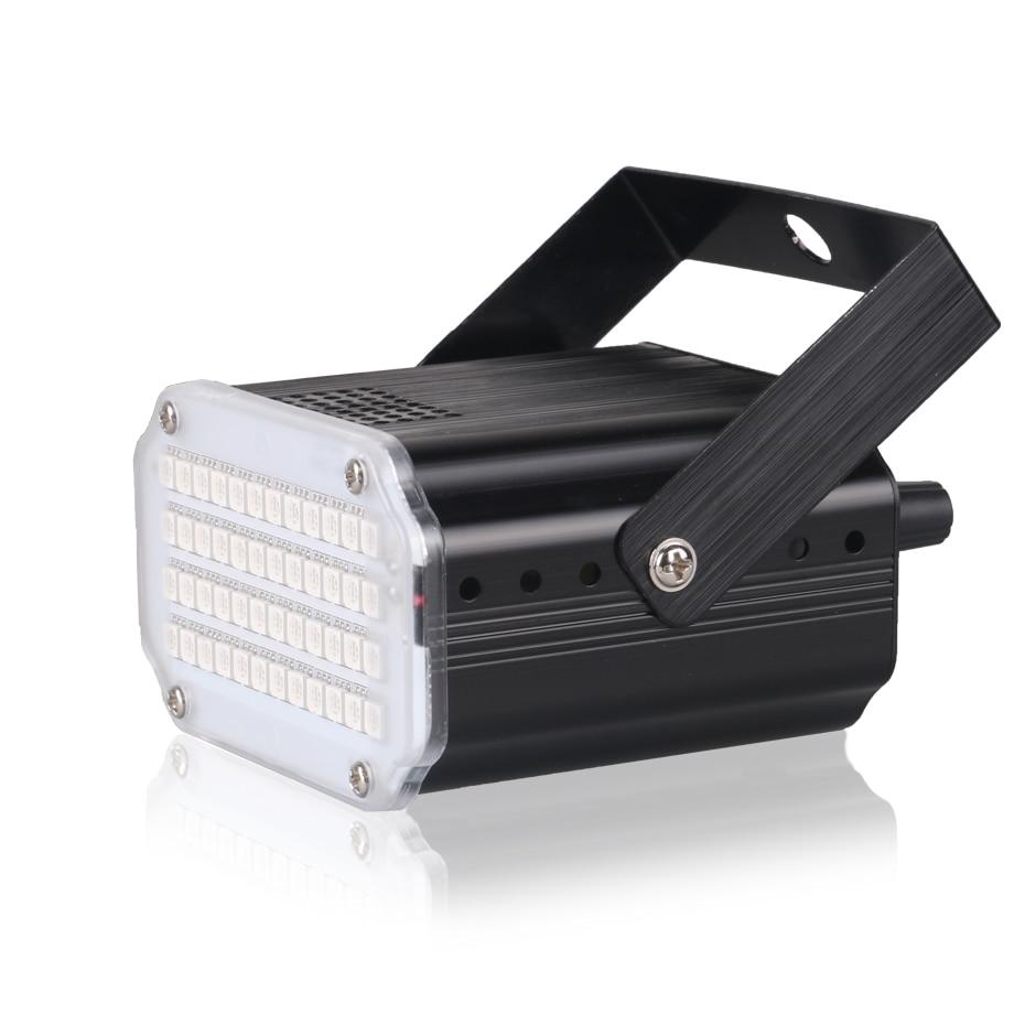 Luz de Color Luz Estrobosc/ópica de Color 24 Led Adecuados para DJ Party Club Disco KTV Control de Velocidad de Etapa de Flash Activado por Sonido
