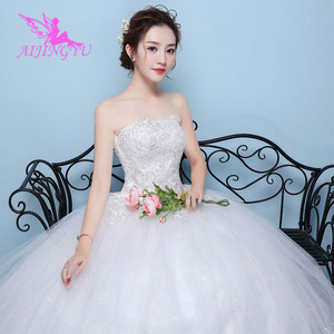 Image 2 - AIJINGYU 2021 bridal new hot selling cheap ball gown lace up back formal bride dresses wedding dress WK450