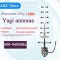 UHF700MHz Яги антенна 12dBi 8 элементы высокого качества с высоким коэффициентом усиления 680 ~ 860 МГц антенна yagi Factory outlet N-женский или SMA Индивидуальные