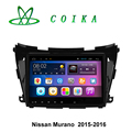 10.2 Capacitive Screen Android Car Auto Radio For Nissan Murano 2015 2016 GPS Navigation BT WIFI OBD DVR 1080P RDS Camera Video