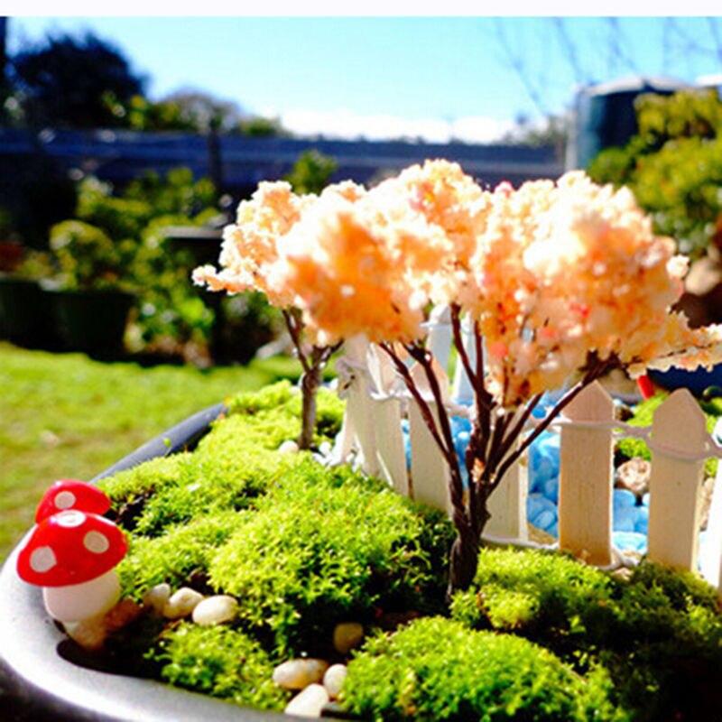 Artificial DIY Mini Mushroom Miniatures Fairy Garden Moss Terrarium  Landscape Decorations Craft 10Pcs 2cm In Figurines U0026 Miniatures From Home U0026  Garden On ...