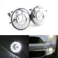 Brand New One Pair Led Daytime Running Light DRL Fog Lights For Bmw Mini Cooper R55 R56 R57 R58 R60 R61 12Leds Super Bright 12V