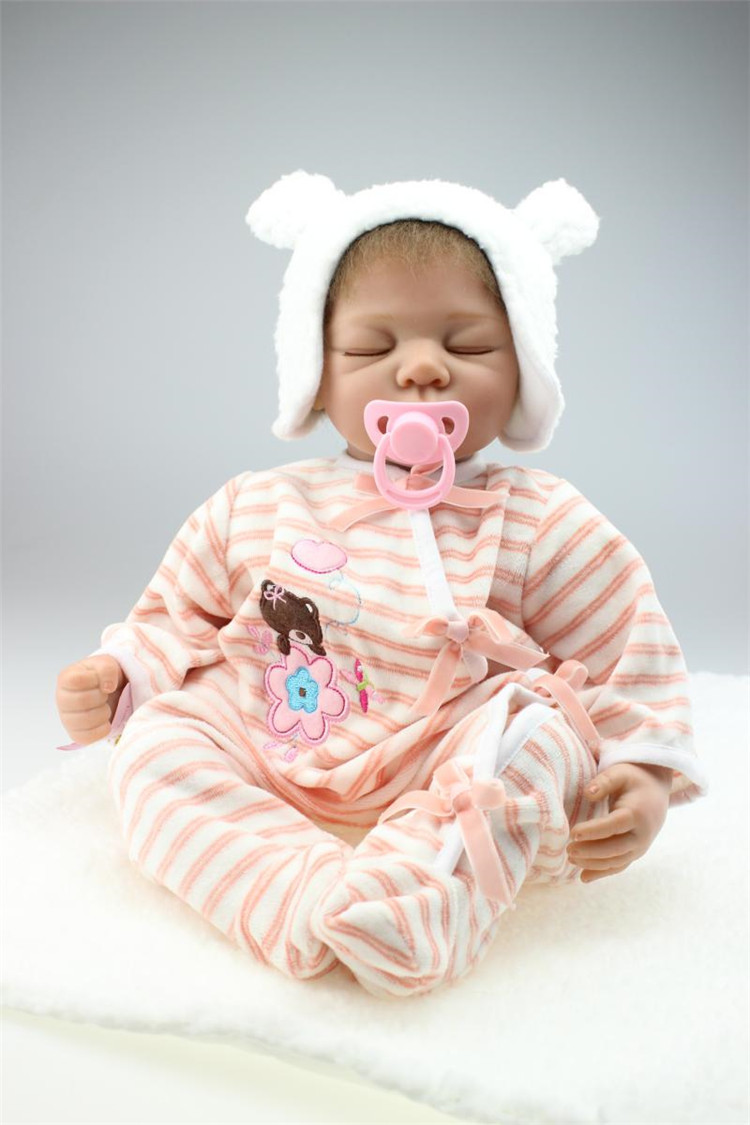 22inch NPK hot sale lifelike reborn baby doll silicone modeling realistic fashion Toddler Babies Doll Birthday Gift Present