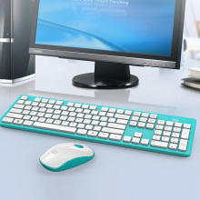 f3ca50f4eec Forter Full-Size 2.4Ghz Wireless Keyboard Mouse Combo Ultra Slim Compact  Portable Keyboard Mice