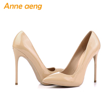 Women shoes 12cm High Heel Women Pumps Sexy Office Lady Shoes Pointed Toe Classic Size 44 45 46 High heels Black Red shoes women