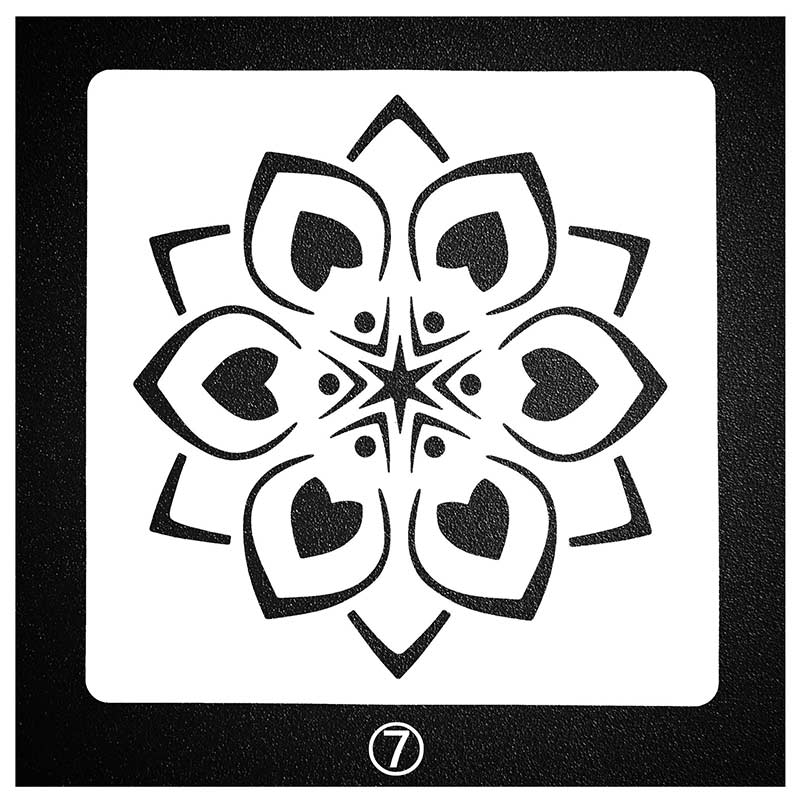 Mandala Flower Stencils Stencil For Painting And Dotting