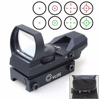 CVLIFE 1X22X33 Red Green Dot Laser Sight Scope Reflex Sight With 20mm Rail