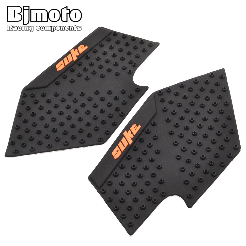 BJMOTO For KTM DUKE 390 200 125 Motorcycle Tank Pad Protector Sticker Decal Gas Knee Grip Tank Traction Pad Side for ktm excr