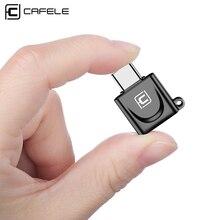 Cafele adaptador usb tipo c para micro usb macho, conversor adaptador otg tipo c carregador de transmissão de dados c otg