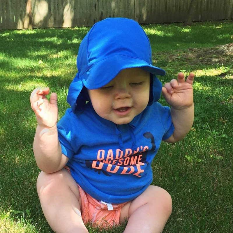 Mùa hè Cho Bé Hat Trẻ Ngoài Trời Cổ Tai Bao Da Chống TIA UV Bảo Vệ Bãi Biển Mũ Trẻ Em Bé Trai Gái Bơi Sập Nắp dành cho bé từ 0-5 Tuổi
