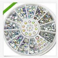 1Pcs Nail Art Tips Crystal Glitter Rhinestone For Nail Water Stickers Alloy 3D Nail Art Rhinestones