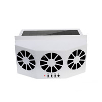 Folding Car Window Solar Powered Auto Air Vent Cooling System Cooling Fan Double Air Cooler Mini Air Conditioner Tools