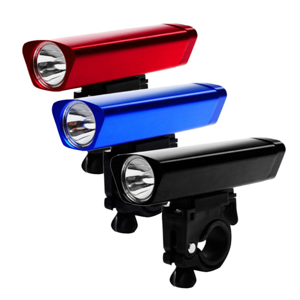 1pc LED Bike Cycling Head Light Front Flashlight Torch Lamp With Clamp bright light flashlight rechargeable battery long time
