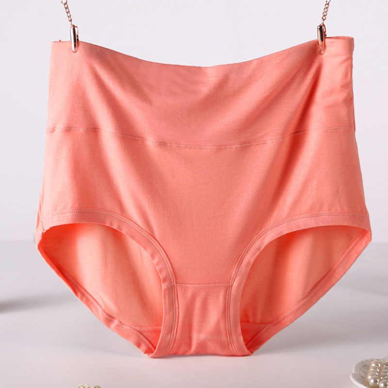 QA194 Plus Ukuran 6XL 7XL Wanita Celana Dalam Serat Bambu Underwear High Waist Body Shaping Celana Wanita Celana Dalam Wanita