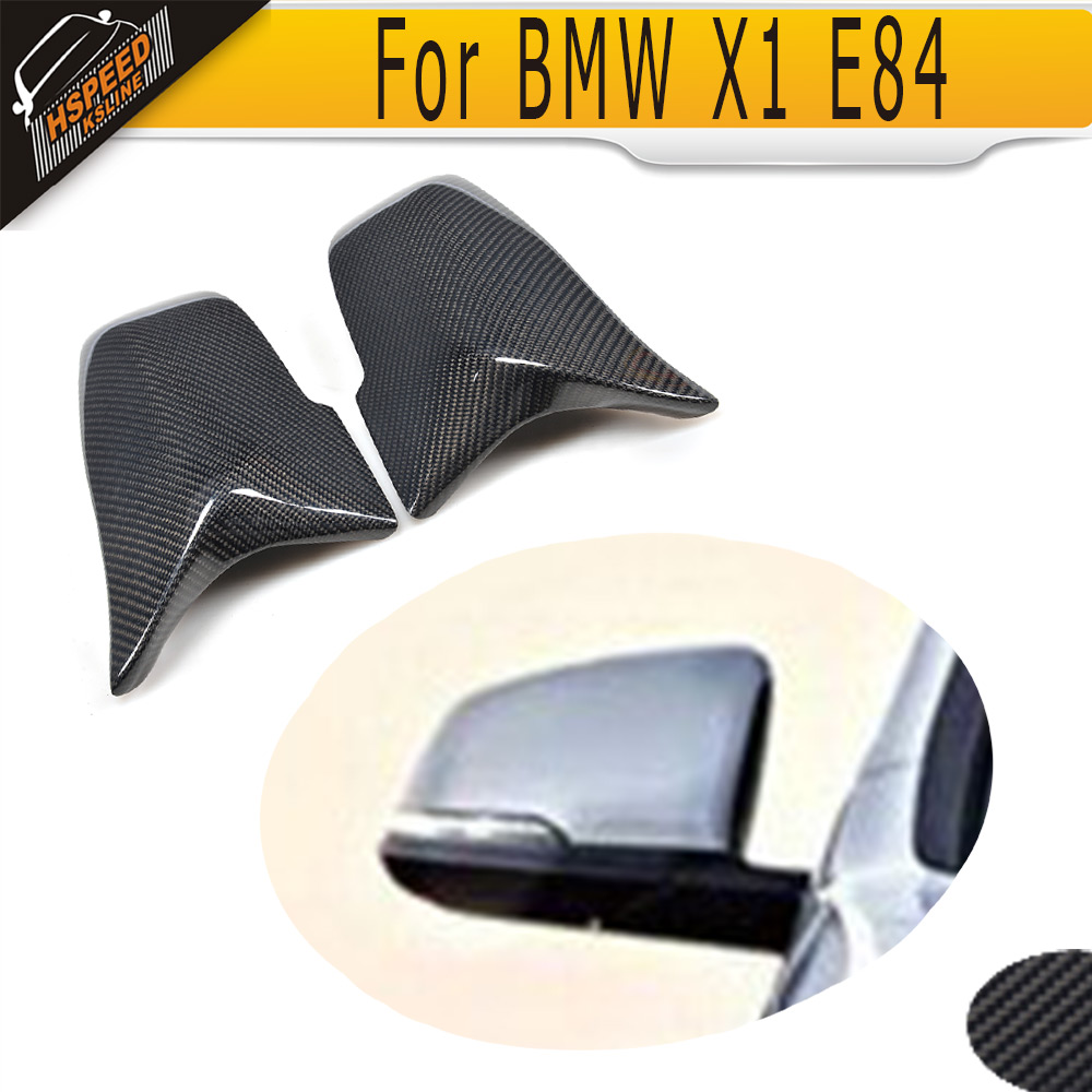 X Series Carbon Fiber Side Mirror Covers for BMW X1 E84 2014-2016 left driving Not Fit M Car carbon fiber w205 car side mirror box cover shield fit for benz w205 left driving 2014up