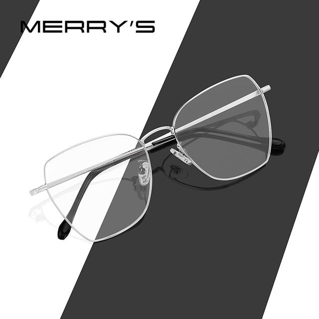 MERRYS Мужская модная квадратная рамка для очков унисекс Роскошные от близорукости, по рецепту женские оптические очки S2011