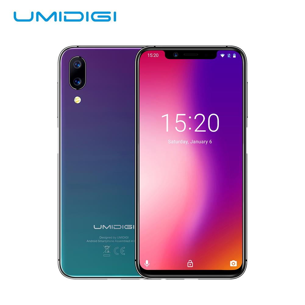 """UMIDIGI One Pro Global Band 5.9"""" Android 8.1 Mobile Wireless Charging 4GB 64GB P23 Octa Core Smartphone 12MP + 5MP Dual 4G NFC"""