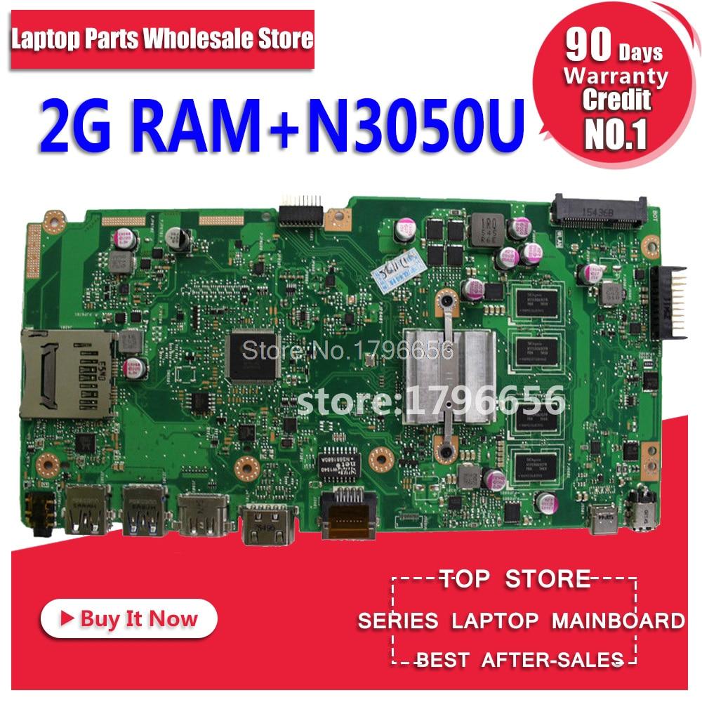 X540SA Motherboard 2G RAM N3050U For ASUS X540S X540SA laptop Motherboard X540SA Mainboard X540SA Motherboard test 100% ok цены