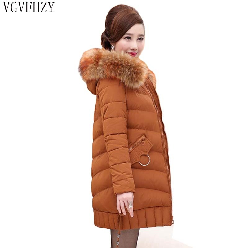 Hooded Winter   Down     Coat   Jacket Thick Warm Slim Women Casaco Feminino Abrigos Mujer Invierno 2018 Wadded Parkas Outerwear LY1335