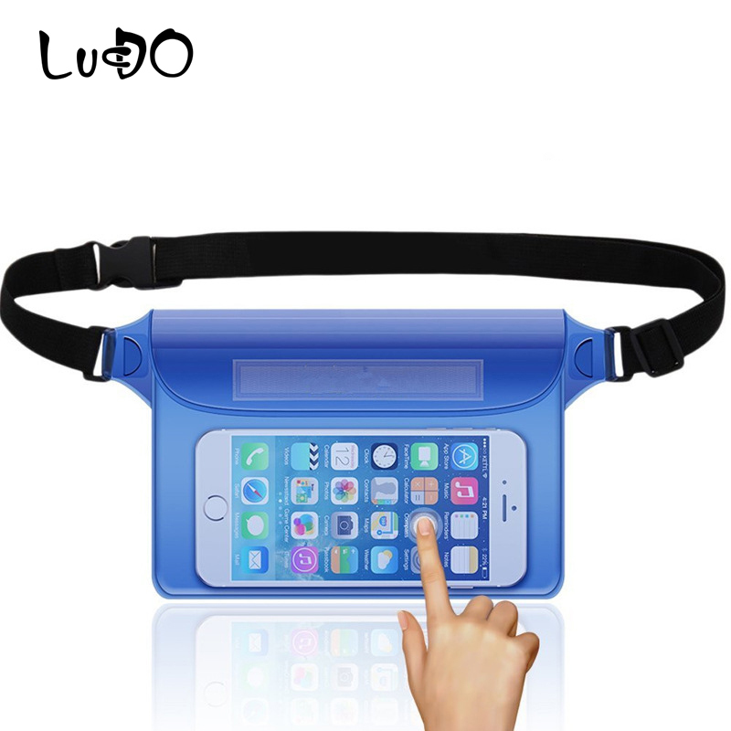 Style; Intelligent Lucdo Outdoor Sport Waterproof Dry Pack Pvc Swimming Drifting Beach Waterproof Pouch Dry Waist Bag Phone Cover Protective Bag Fashionable In