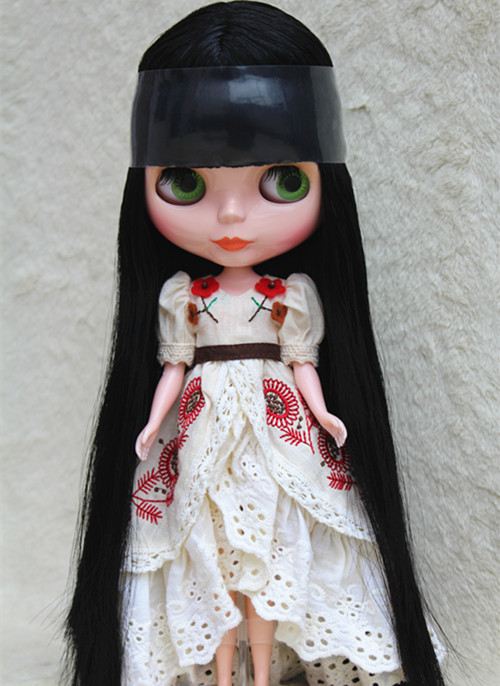 Blygirl Blyth doll Black bangs straight hair No.9031 ordinary body 7 joints DIY for their makeup точечный светильник donolux dl18615 02ww sq white black