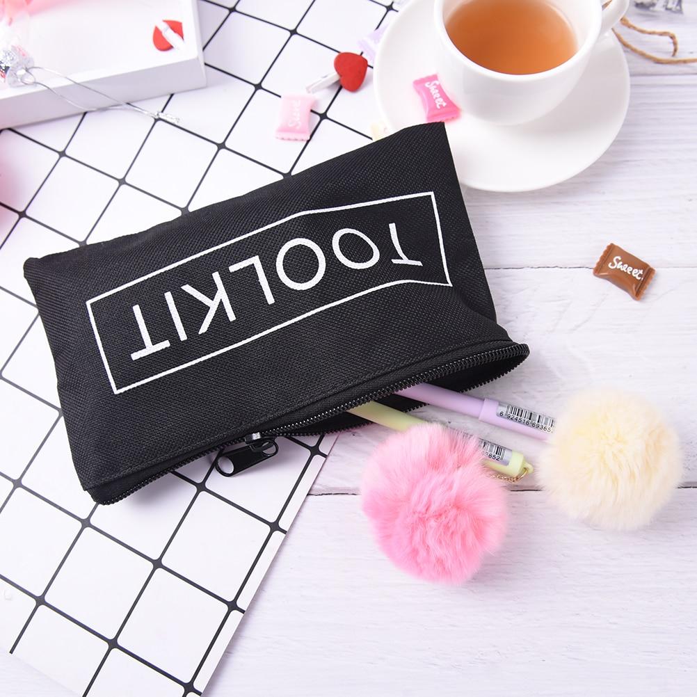 1PCS 19*11cm Black Waterproof Tool Kit Bag Oxford Wrench Bag Zipper Storage Instrument Case Scissors Bag For Travel Accessories