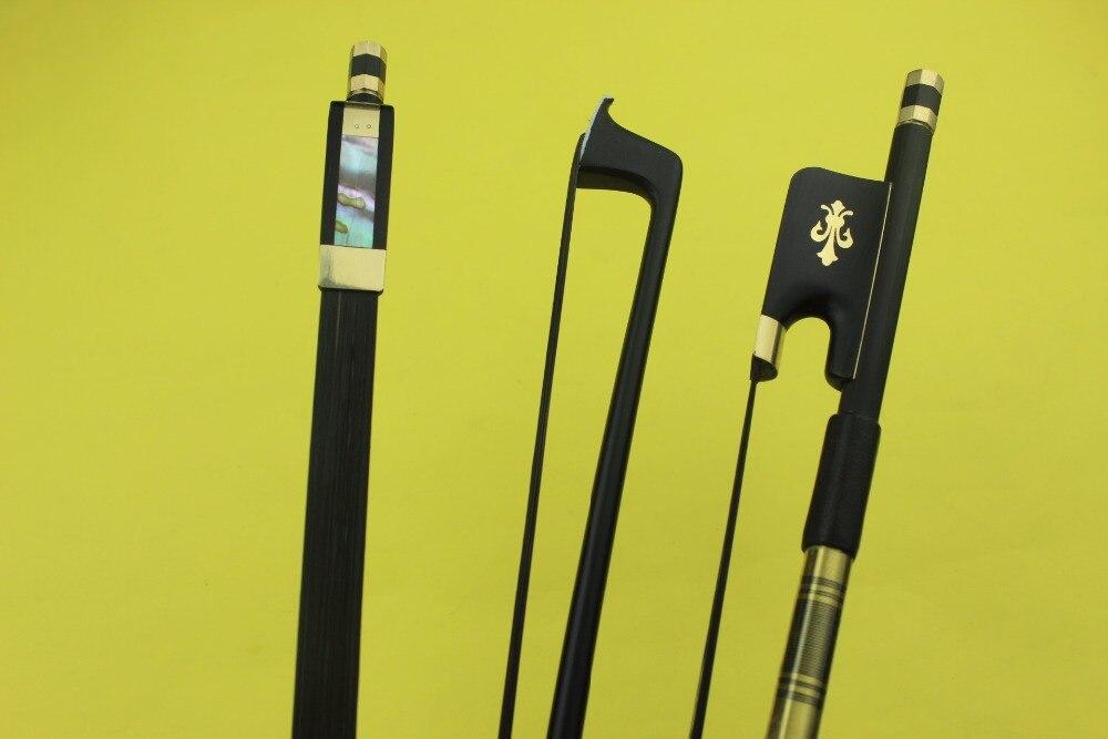 Hot Sale PRO High Quality Black Carbon Fiber Viola Bow Black Horse Hair Free Shipping