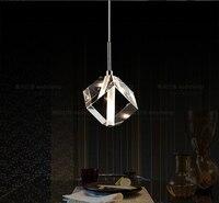 (2 sztuk/partia) jedną głowę LED Lampy wiszące wiszące kryształowe lampy kryształowe wiszące światła przejściach i korytarzach lampy kawiarnia licznik dla home decor