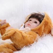 17 Inch Alive Silicone Reborn Babies Dolls Unisex Dolls for Children Nursing Sleeping Doll Perfect Birthday Gifts Bonecas Bebe
