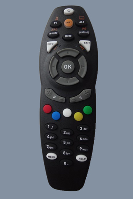 DStv wide silver TV universal remote control South Africa digital TV set-top box remote control. universal tv remote keychain