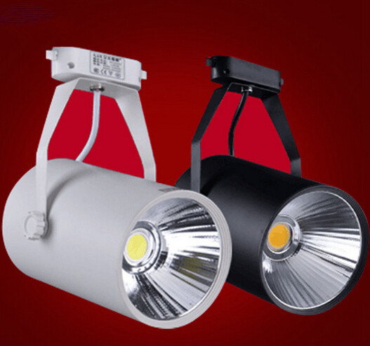 Free Shipping COB LED rail light 30W spot ceiling spotlight lamp 85~265V/AC
