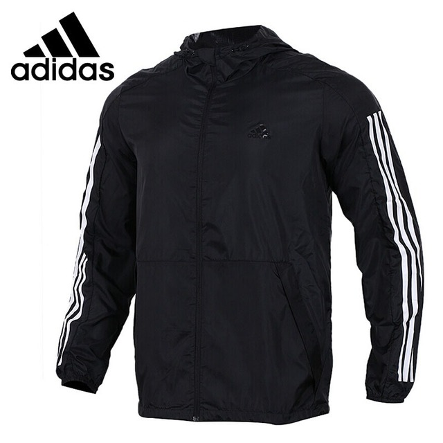 68a1190c7eb9 Original New Arrival 2018 Adidas Performance WB WV DATA Men s jacket Hooded  Sportswear
