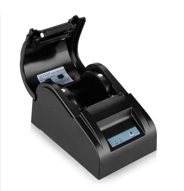 Оригинал Термопринтер ZJ-5890 Т Мини 58 мм Низкий Уровень Шума POS Тепловая Чековый Принтер С USB Порт ЕС PLUG